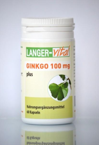Ginkgo 100 mg plus, 60 Kapseln