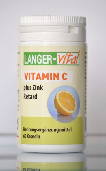Vitamin C + Zink, 60 Langzeit-Kapseln