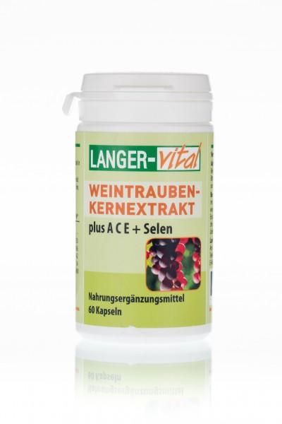Weintraubenkern-Extrakt + ACE + Selen, 60 Kapseln