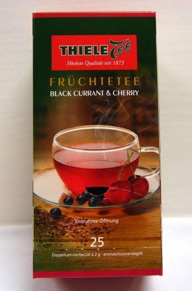 Thiele Tee, Black Currant & Cherry, 25 x 2 g Beutel