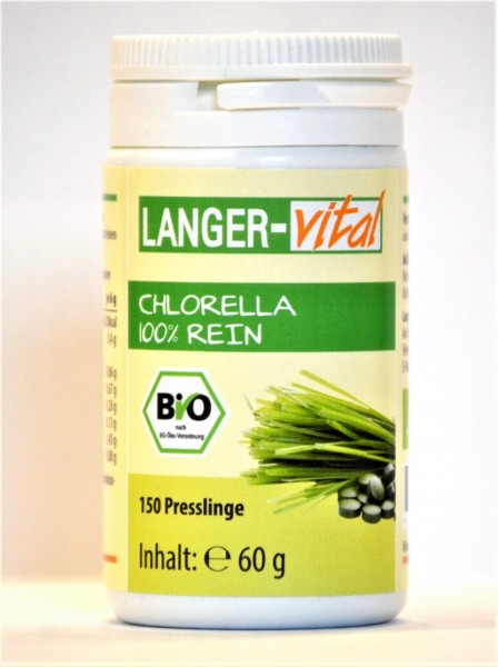 Chlorella Bio 100% rein, 150 Presslinge