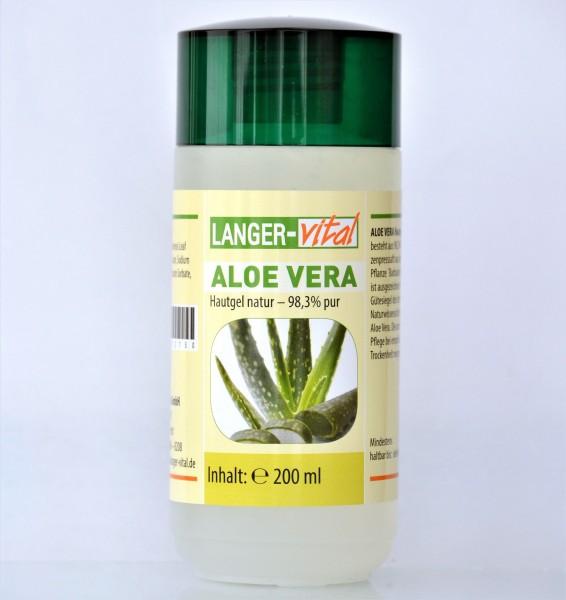 Aloe Vera Hautgel natur - 98,3% pur, 200 ml