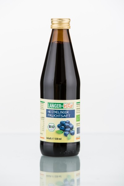 Heidelbeer Fruchtsaft Bio, 330 ml