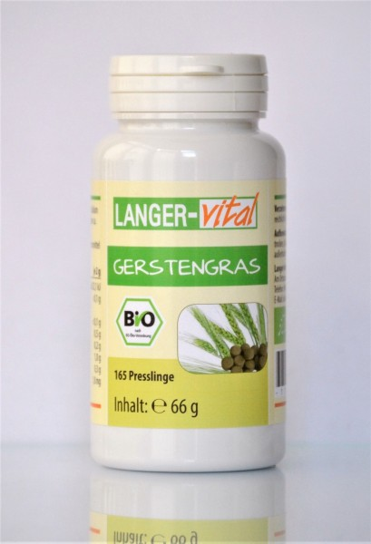 Gerstengras Bio, 165 Presslinge